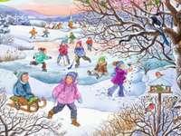 Juegos infantiles en invierno