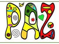Puzzle letras Paz