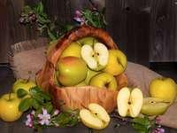 appels met een mand