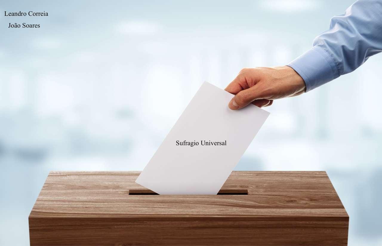 powszechne prawo wyborcze - Ten obraz jest opisem powszechnego prawa wyborczego (4×3)