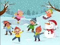 Jocurile copiilor, iarna!