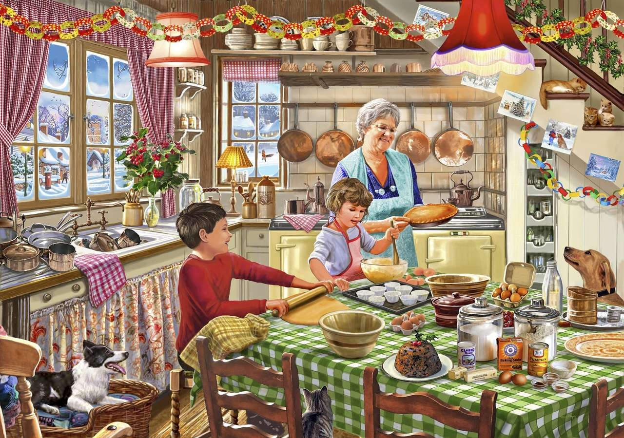 Baking lesson with grandma