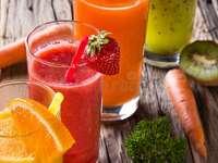 čerstvé ovocné šťávy