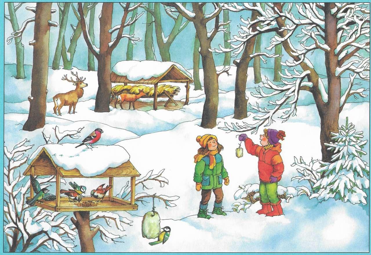 Ζώα και πουλιά το χειμώνα