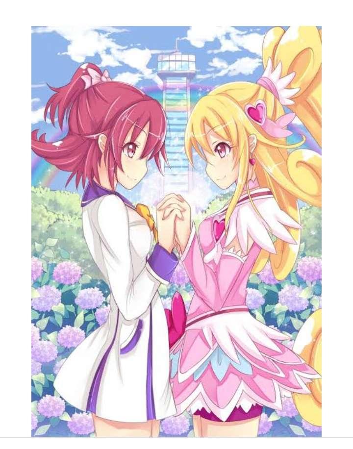 Doki doki precure - C'est un anime qui est d'environ 5 filles qui se transforment en super-héroïnes (15×20)