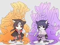 Mini Itachi and Mini Sasuke