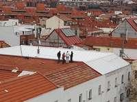 Travailler sur le toit