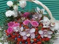 coș cu flori