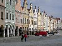 Miasto Telc w Czechach