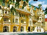 Marienbad brunnsortstad i Tjeckien