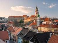 Cesky Krumlov city in Czech Republic