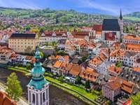 Città di Cesky Krumlov in Repubblica Ceca
