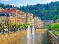 Karlovy Vary fürdő a Cseh Köztársaságban