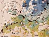 Χάρτης καιρού για την Ευρώπη