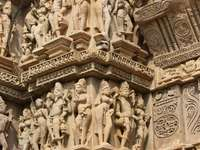 Khajuraho, the figures of its temples
