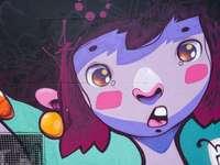 personnage de dessin animé animal bleu et blanc