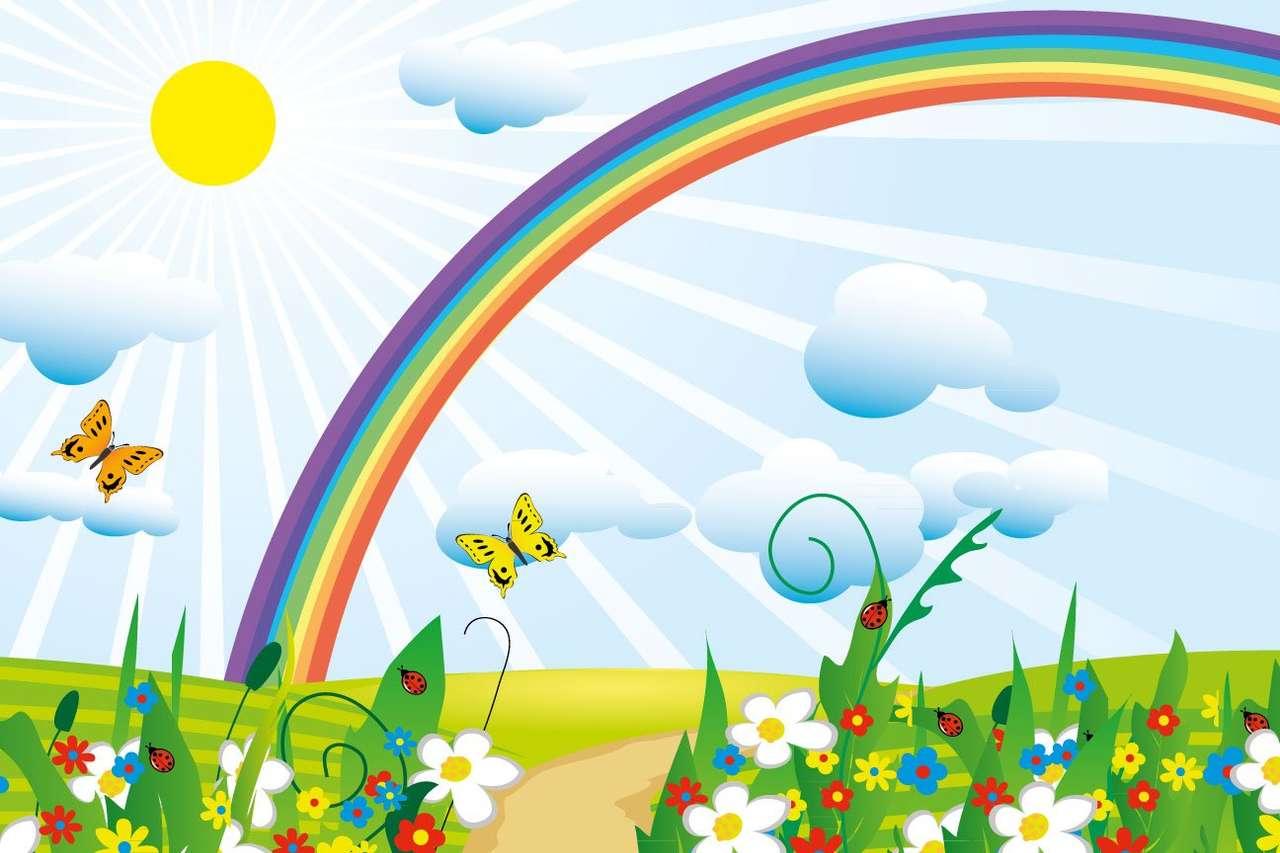 Rainbow 1st - Rozwiąż tę tęczową łamigłówkę (9×6)