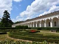 Parque do castelo na República Tcheca