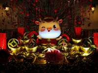 biało-złota ceramiczna figurka kota