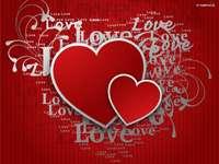 coeurs, inscriptions d'amour