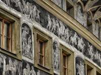 Prague house facade art Czech Republic