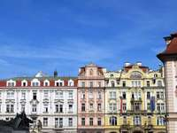 Prag i stadens centrum Tjeckien