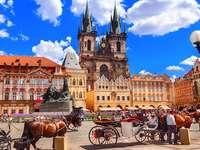 Plaza del mercado de Praga República Checa