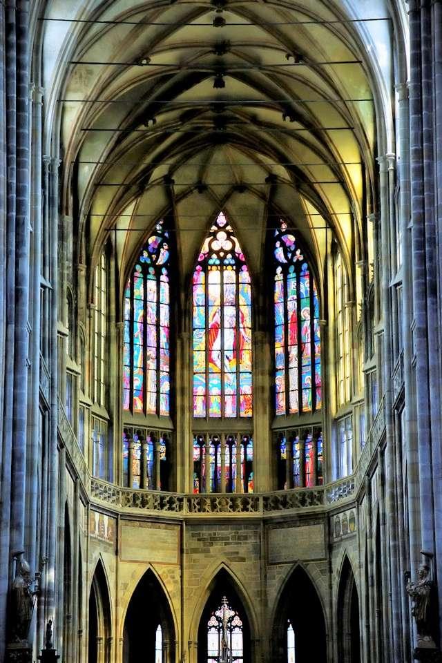 Praag St. Vitus Kathedraal glas in lood raam