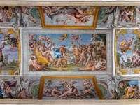 Triumf Bachusa i Ariadny Galeria Farnesea