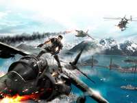 Just Cause 2, Soldier, Planes, Fight
