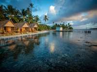 Maldive, Ocean, Palme, Cabane