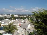 Panorama of the trulli in Alberobello