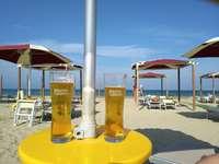 På stranden i Pescara