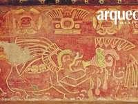 Muurschildering van de Patio de los Jaguares