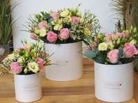 pudełka z kwiatami