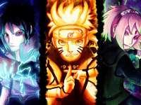 Sasuke, Naruto és Sakura.