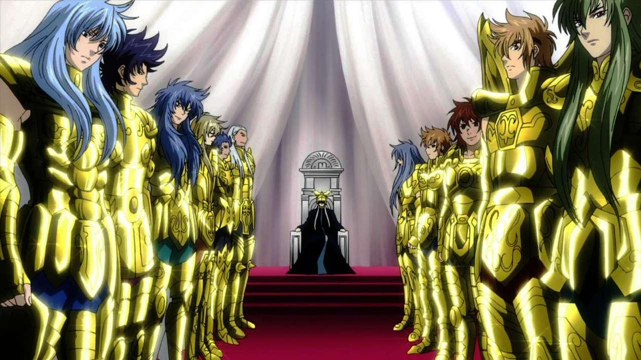 CDZ - The Lost Canvas - Puzzel gebaseerd op de beroemde Golden Knights van de anime Saint Seiya: The Lost Canvas (19×11)