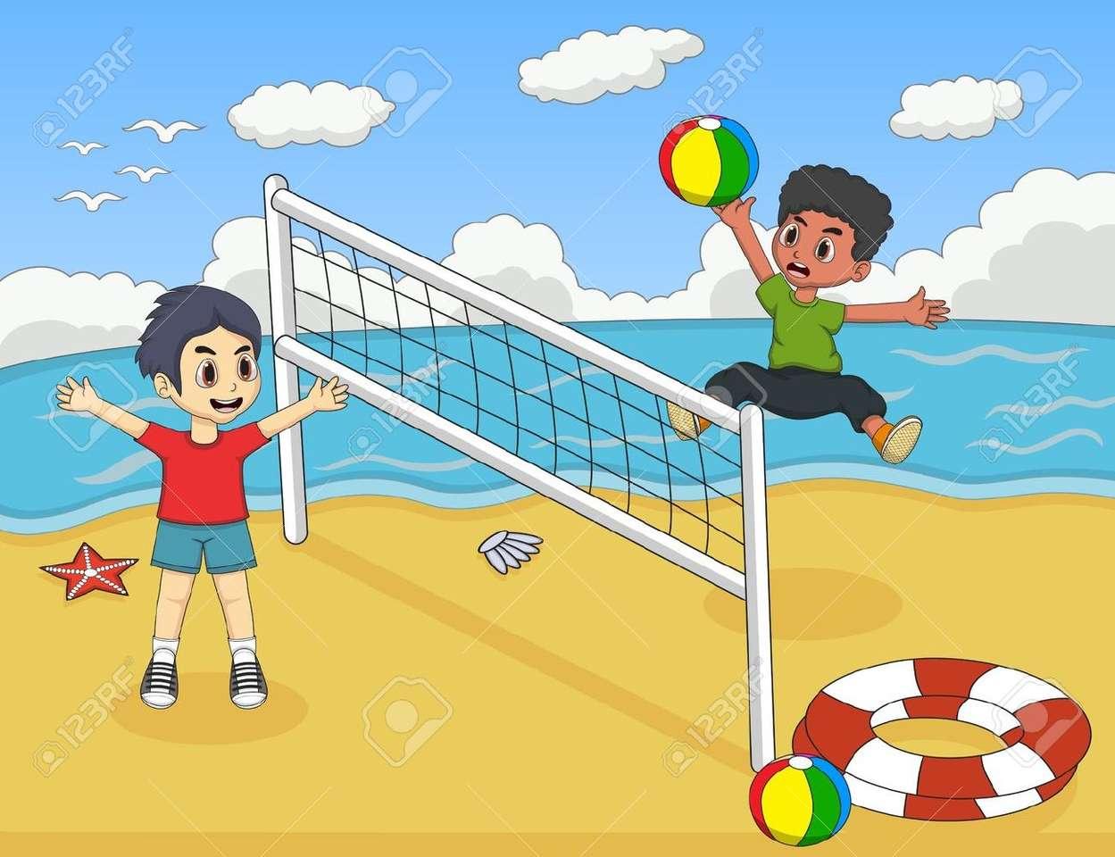Beach volleyball - Beach volleyball game (11×9)