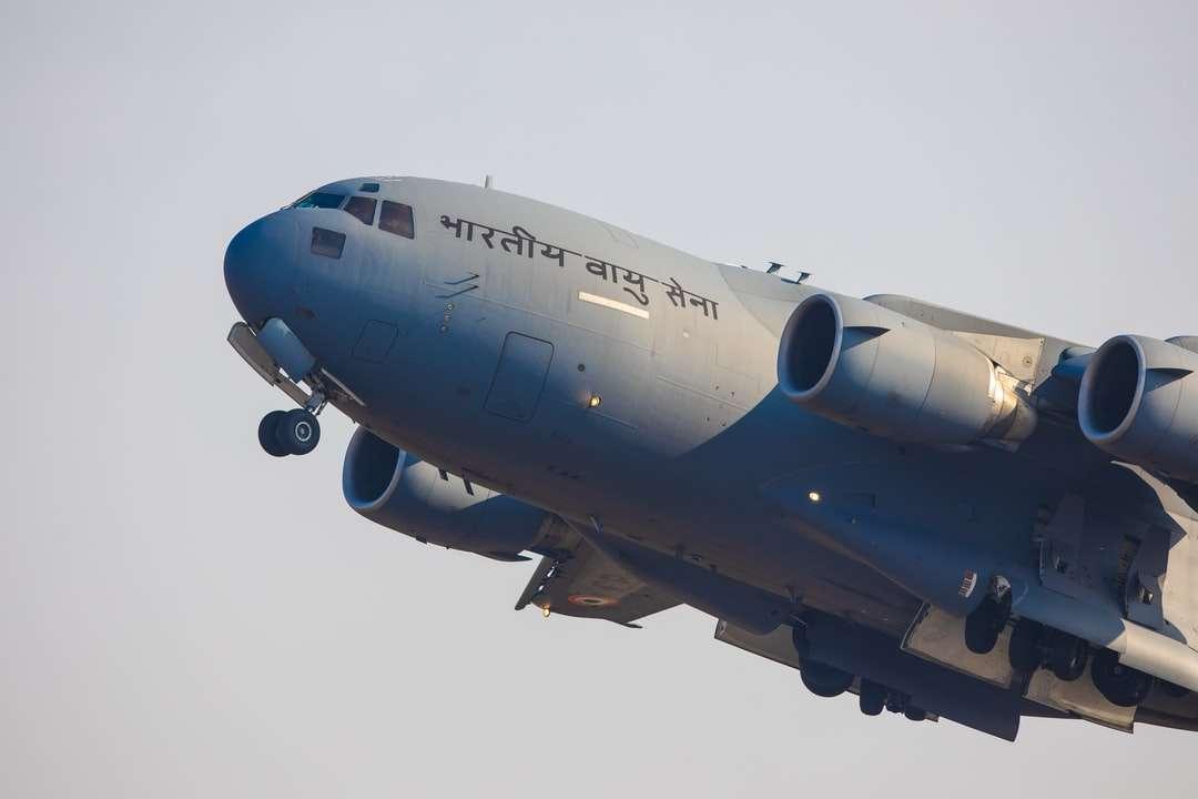 gray passenger plane under white sky during daytime - aeroindia iaf indianairforce (7×5)