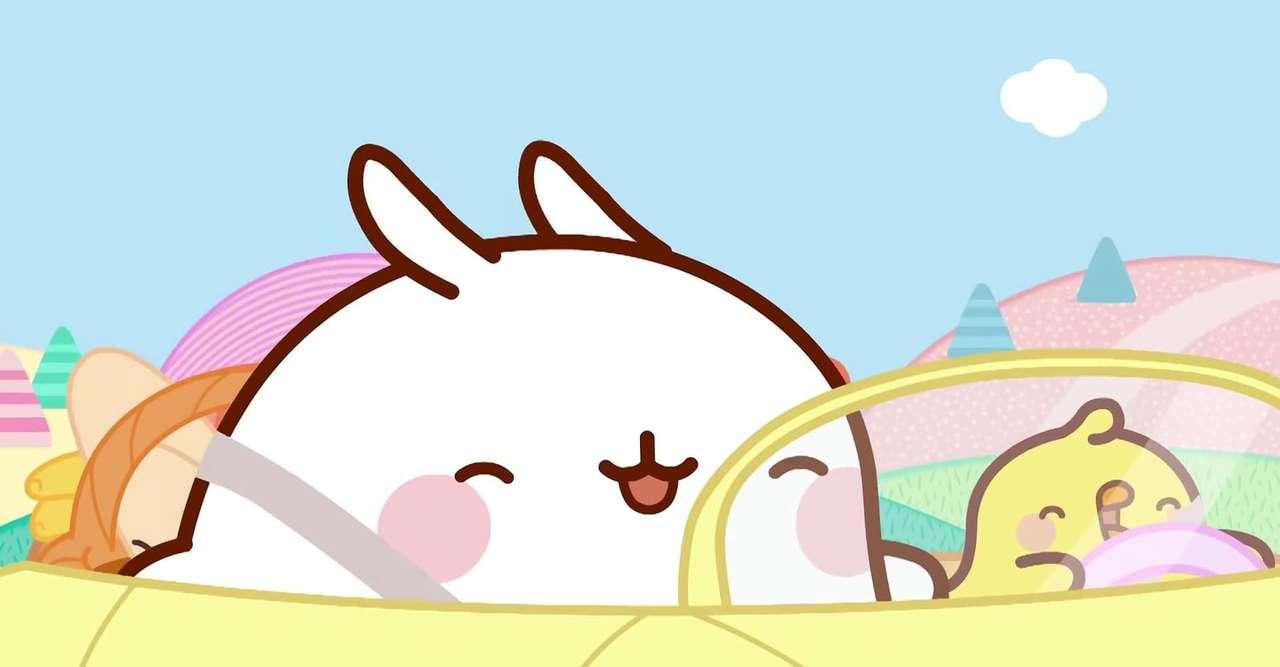 Molang v autě - Hej, to je skvělý obrázek, že? komentujte, pokud se vám líbí ❤❤❤ (7×4)