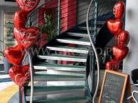балони със сърца за Свети Валентин