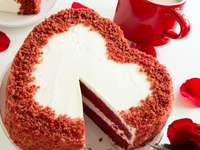 Bolo de Dia dos Namorados - coração