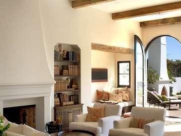 Salon de style méditerranéen
