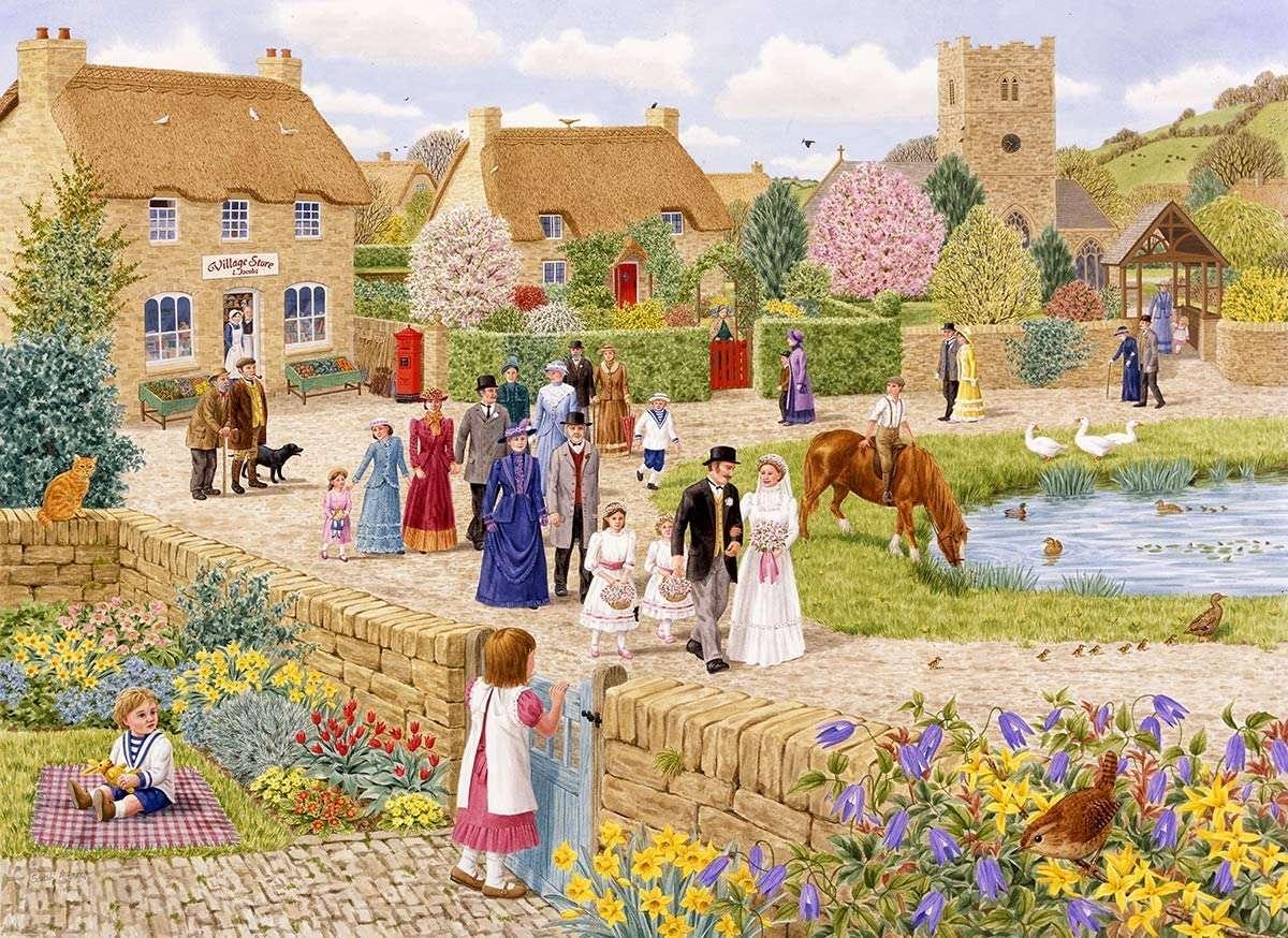 """Bybröllop - """"Village Wedding"""" - Sarah Adams (12×9)"""