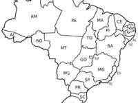 Карта на Бразилия