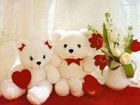 nallebjörnar med hjärtan puzzle
