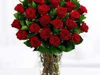 голям букет от рози
