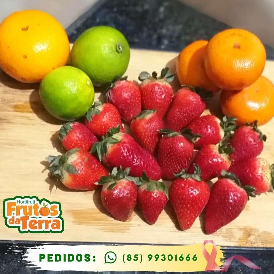 Vruchten van de aarde - Fruit, aardbei, mandarijn en citroenen (6×6)