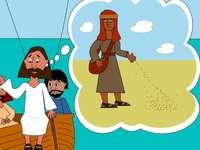 Jésus raconte l'histoire du semeur