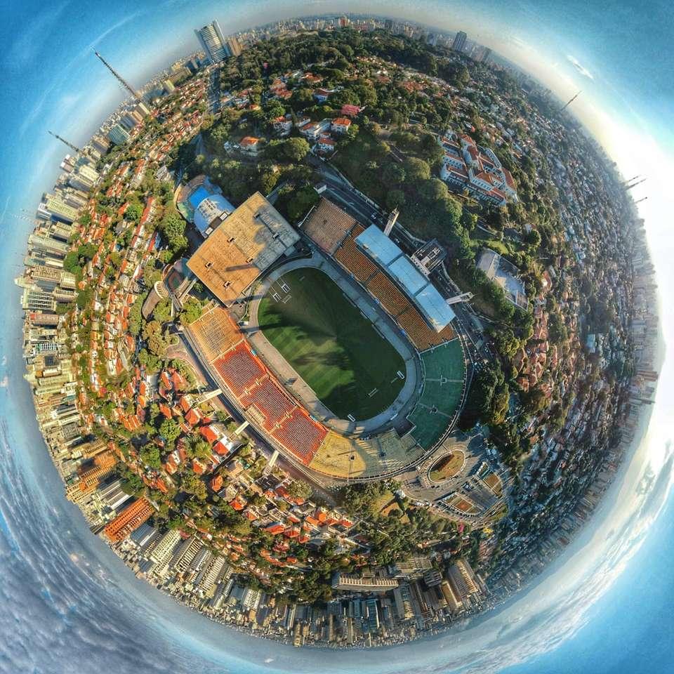 фотография на малка планета на сгради - Estadio do Pacaembu. Ав. Brg. Фария Лима, 2803 - Jardim Paulistano, Сао Пауло - SP, Бразилия, Сао Пауло (7×7)